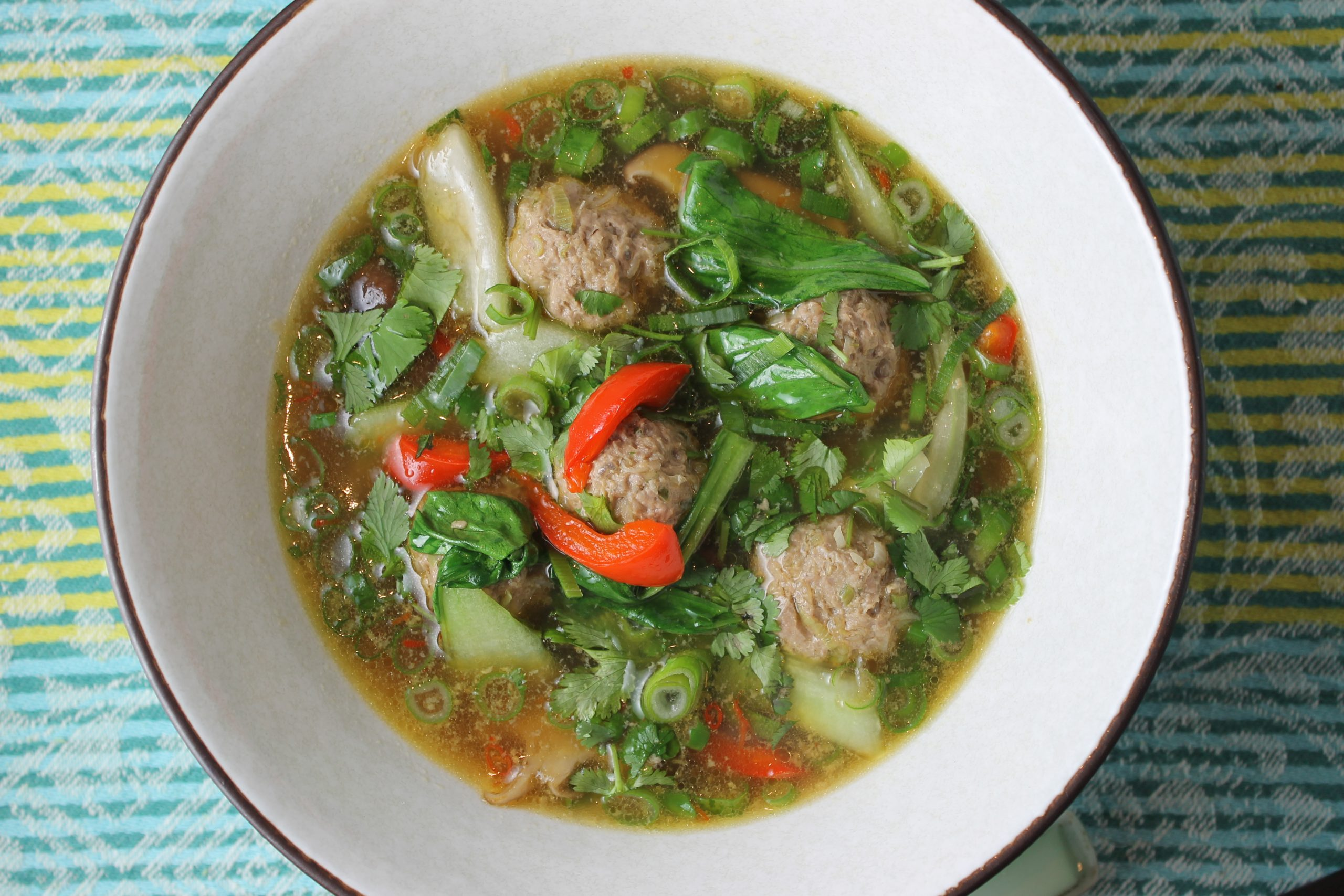 Paleo Chinese Meatball Soup